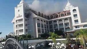 Side Crown Serenity Hotel'de çıkan yangında can pazarı yaşandı!