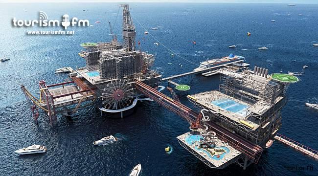 Turizm destinasyonuna dönüşecek petrol platformunda hedef yılda 100 milyon turist