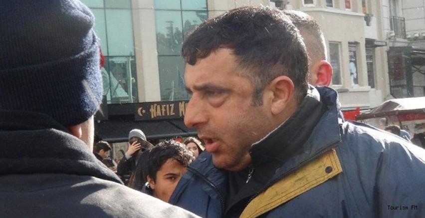 İngiliz turiste Taksim'de meydan dayağı!