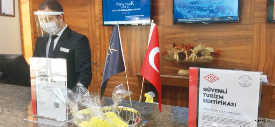 New Park Hotel Ankara'da Güvenli Turizm Sertifikası alan ilk tesis oldu