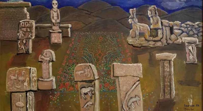 Ressam Sedef Yavuzalp Göbeklitepe Kültürel Miras ve Turizm Fuarı'nda sanatseverlerle buluşuyor