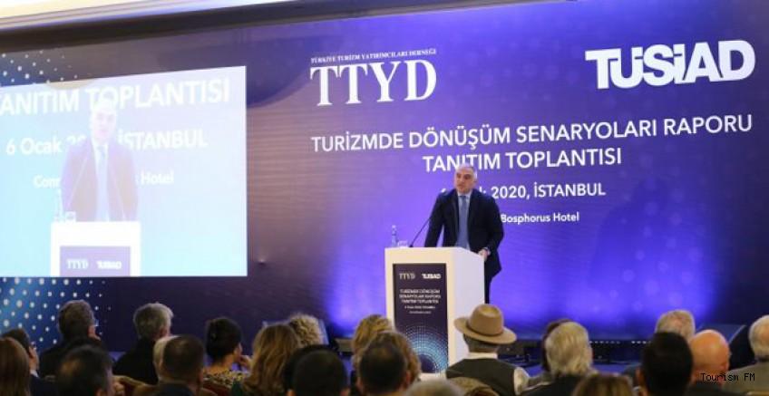 TTYD ve TÜSİAD'ın hazırladığı Turizmde Dönüşüm Senaryoları Raporu açıklandı